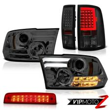2009-2018 Dodge RAM 1500 Phantom Smoke Tail Lamp Red Brake Light DRL Headlamp