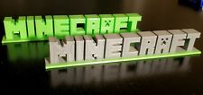Minecraft Video Game Logo 3D PRINTED Display Sign, High Quality, Made in USA