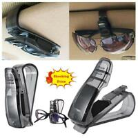2pcs Car Sun Visor Glasses Holder Clip Sunglasses Storage Safety Clips