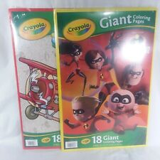 Crayola Giant Coloring Pages Mickey, and  Incredibles 2