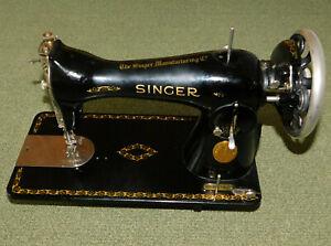 ancienne vintage MACHINE à COUDRE de MEUBLE SINGER 15K88 SIMANCO
