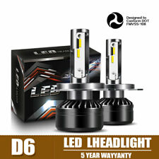 60W 12000LM DOT LED Headlight Kit H4 HB2 9003 Hi/Low Beams HID 6000K Bulbs DTI