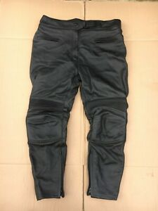 """EXTRO Ladies Leather Motorcycle Trousers Size UK 20 = 38"""" to 39"""" Waist  (LUB51)"""