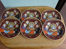Service de 6 assiettes à dessert en porcelaine (JAPON).NEUF.
