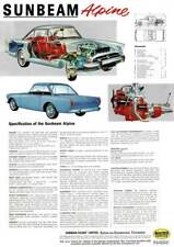 Sunbeam Alpine Series 4 Reproduction Specification Poster