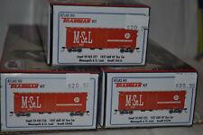 3 Atlas M&ST.L 1937 AAR 40' Box Car Kit Ho Scale 20003225, 20003226, 20003226