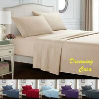 Hotel Luxury 1800 Count 4 Piece Bed Sheet Set Deep Pocket Bed Sheets Set J2