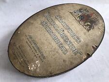 Rare Vintage Antique Crawford's Royal Deeside Shortbread Biscuit Tin Edinburgh