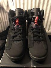 Nike Air Jordan Air VI 6 Retro Black/Infrared 23 (2014) Boys Size 6 Women's 8