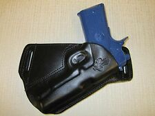 "1911 4.25"" & 4""  FORMED LEATHER,SOB, OWB BELT HOLSTER, R H, ULTRA SLIM DESIGN"