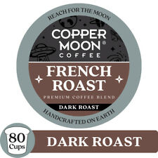 COPPER MOON COFFEE K-CUP FRENCH ROAST, 80 COUNT