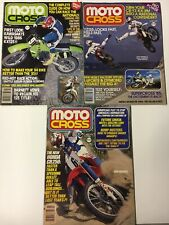 1985 Moto Cross Magazines Lot Of 3 Vintage MX Danny LaPorte