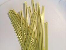 """(10,000 pcs) Yellow Plastic Twist Ties 5/32"""" x 6"""" bag tie wholesale cello"""