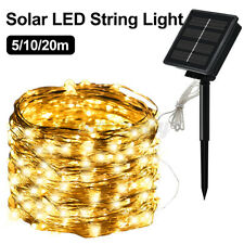 Solar LED String Lights Rope Wire 8 Mode Waterproof  Garden Home Christmas Decor
