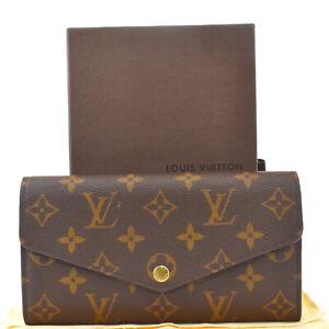 Auth LOUIS VUITTON Portefeuille Sarah Long Bifold Wallet Monogram M60531 76MG011