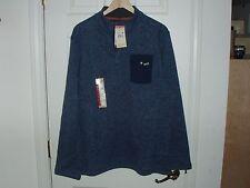NWT Woolrich MensX Large PolartecMidnight/Gray 1/4 T-Snap Fleece Pullover Jacket