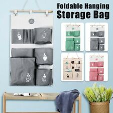 Cotton Linen  Home Organizer Wall  Door Pouch  Holder Closet Hanging Storage Bag