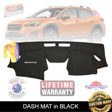 DASH MAT For Subaru XV all 2.0i 2.0i-L MY17 MY18 MY19 DEC/2016-2019 DM1462 Black