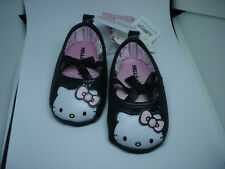 BABYSHOES HELLO KITTY BLACK SIZE 6-9 MONTH NWT