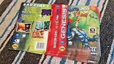 BOX ART ONLY Earthworm Jim 1 Original Sega Genesis Case Sleeve