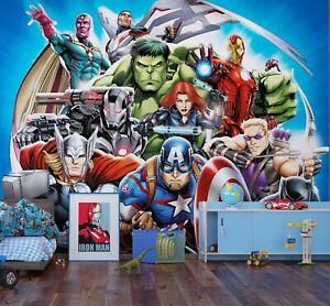 Kinder Schlafzimmer Marvel Avengers Tapete Foto Wandbild Riesig Größe + Adhesive