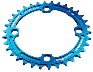 Race Face Narrow Wide Single Chainring - 104mm - Blue