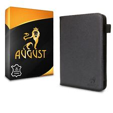 August® Genuine Leather Black Case Magnetic Cover for Amazon Kindle Paperwhite