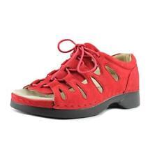Calzado de mujer sandalias con tiras de color principal rojo talla 36