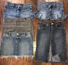 Lot Of Mini & Jean Skirts Black Plaid Women's 5