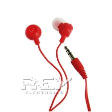 Auriculares FRUIT SMILES para  ZTE NUBIA Z5S MINI 6 3,5mm ROJO s164