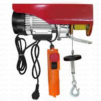 220 Lb Electric Hoist Crane Lift Garage Auto Shop Winch with Remote 220V 110V