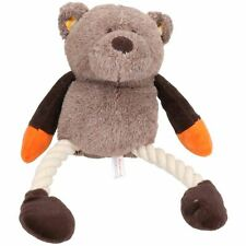 Mister Twister Colourful Teddy Rope Plush Dog Toy With Squeak 11x12x32cm