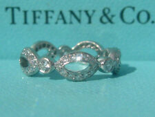 TIFFANY & CO. PLATINUM DIAMOND SWING JAZZ WEDDING PT950 BAND RING SIZE 5