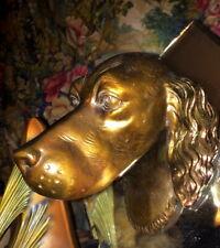 Art Deco/ Retro,  Retriever/ Spaniel 3D Metal Hunting Dog Head Hanging Mirror