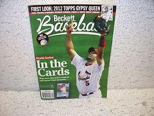 Beckett Baseball Card Magazine January 2012 Albert Pujols St. Louis Cardinals