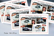 Walter Röhrl - Christian Geistdörfer Rallye Monte Carlo Poster 50x70 Signiert