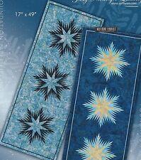 Winter Wonderland Snowflakes Table Runner foundation pieced quilt pattern