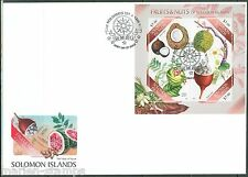 SOLOMON ISLANDS  2013  FRUITS AND NUTS  SHEET  FDC