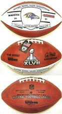 SUPER BOWL 47 XLVII OFFICIAL NFL WILSON AUTHENTIC GAME FOOTBALL RAVENS CHAMPIONS