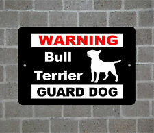 Bull Terrier warning GUARD DOG breed metal aluminum sign