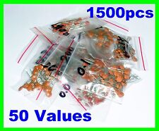 1500pcs Ceramic Capacitor Assortment 50 values  B