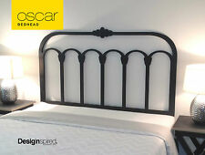 OSCAR Wooden Bedhead for Double Ensemble Bed -  Cast Iron Inspired