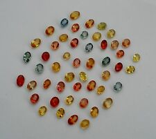 Sapphire oval loose faceted natural gem mix parcel lot over 10 carats
