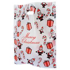 Christmas Plastic Carrier Bags Xmas Santa Claus Toys Gift Shop Stall Retail