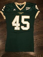 Game Worn Colorado State Rams Football Jersey Used #45 Size L PEITZ