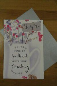 "Hallmark Christmas card ""lovely mum"" mother mummy"