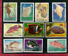 GUINEE Rep./ Equatorial  POISSONS ,SEA-FISH  timbres grands modeles   28m256T2