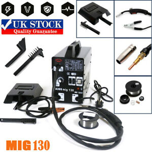 Gasless Welding MIG-130 Machine Flux Core Wire Welders Auto Feed Welder Kit UK