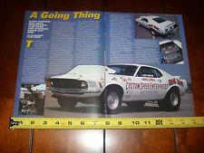 1969 FORD MUSTANG 429 SUPER STOCK FACTORY DRAG RACE CAR - ORIGINAL 2001 ARTICLE