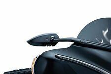 Kuryakyn Black Windshield Fairing Mounted Scythe Mirrors Harley Batwing Bagger